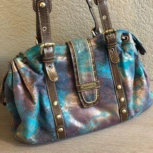 Sharif Metallic Blue/Purple Handbag